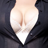 Big Breasts in corset and sheert Royalty Free Stock Photography