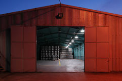 big brewery warehouse Stock Photography