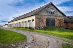 Big brick barn Royalty Free Stock Photography