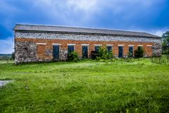 Big brick barn Royalty Free Stock Photos