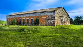 Big brick barn Stock Image