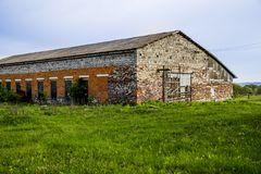 Big brick barn Royalty Free Stock Images