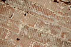 Big bricks old wall background, diagonal lines. Big red bricks old wall background, diagonal lines royalty free stock images