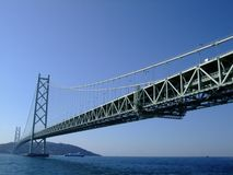 Big bridge cross sea. In Japan Royalty Free Stock Images