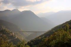 Big bridge with highway Stock Photo