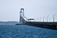 Big Bridge. Large bridge crossing an inlet.  Big enough to not be draw-bridge type Stock Photos