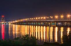 Big bridge at night Stock Photo
