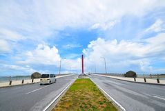 Big bridge of Okinawa Japan royalty free stock photography