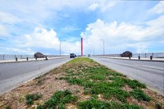 Big bridge of Okinawa Japan stock photos