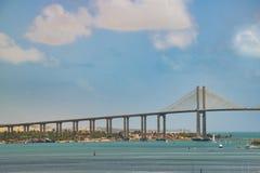 Big Bridge over Atlantic Ocean Natal Brazil Stock Photo