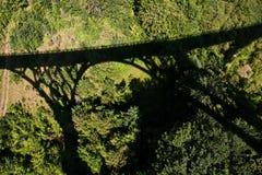 Big bridge over Tara river. Shadow of ridge over the canyon of the river Tara Royalty Free Stock Photo