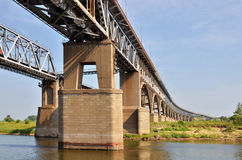 A big bridge through the river Royalty Free Stock Photography