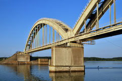 A big bridge through the river Stock Image