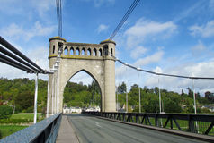 Big bridge with supports Royalty Free Stock Photo