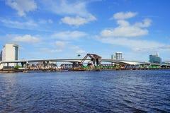 Jacksonville downtown bridge Stock Photos