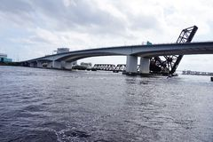 Jacksonville downtown bridge Royalty Free Stock Images
