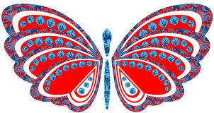 A big bright butterfly Stock Images