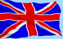 British National Flag. Big British Union Jack flag background stock images