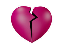 Big broken heart Stock Photo