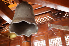 Big bronze bell in the hongshan temple Royalty Free Stock Photography
