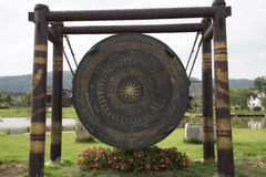 The big  Bronze drum Stock Images