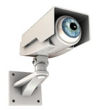 Big brother. 3d illustration of security camera with eye, big brother concept Royalty Free Stock Photos