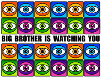 Big brother. Is watching you concept: omnipresent camera control in society and fading privacy on the internet Royalty Free Stock Image