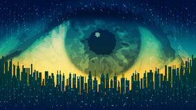 Big brother - concept electronic all-seeing eye, the technology of global surveillance Royalty Free Stock Images