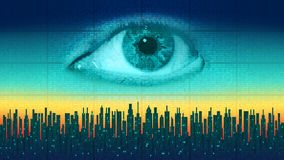 Big brother - concept electronic all-seeing eye, the technology of global surveillance Stock Photo