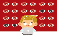 Big brother concept, internet security and safety Royalty Free Stock Photography
