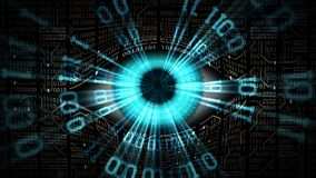 Big brother electronic eye concept, technologies for the global surveillance, security of computer and networks