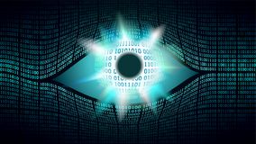 Big brother electronic eye concept, technologies for the global surveillance, security of computer systems