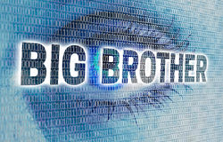 Free Big Brother Eye With Matrix Looks At Viewer Concept Royalty Free Stock Photography - 77193587