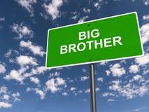 Big Brother gatatecken royaltyfri illustrationer