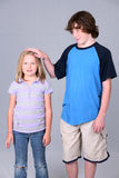 Big brother little sister Royalty Free Stock Photo