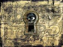Big Brother som håller ögonen på dig vektor illustrationer