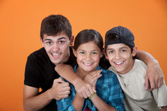 Big Brother with Two Siblings Royalty Free Stock Image