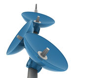 Big brother watching. Satellite dish - 3d computer generated image Royalty Free Stock Images