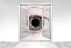 Big Brother is watching you. Conceptual image. Hidden cameras concept Royalty Free Stock Photo
