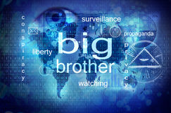 Big brother is watching you. Internet privacy concept vector illustration