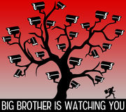 Big brother watching you royalty free illustration