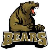 Big brown bear mascot Royalty Free Stock Images