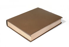 Big brown book. The big brown book on a white background Stock Photography