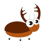 Big brown bug cartoon. Royalty Free Stock Photography