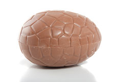 A big brown chocolate easter egg Royalty Free Stock Photography