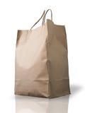 Big Brown Crumpled peper bag Stock Images