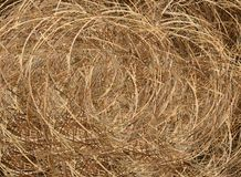 A Big Brown Haybale Roll Background Texture Royalty Free Stock Images