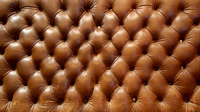 Big brown leather couch texture Stock Photos
