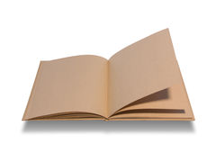 Big brown notebook blank open Royalty Free Stock Images