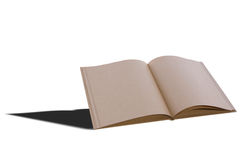 Big brown notebook blank open Royalty Free Stock Photo